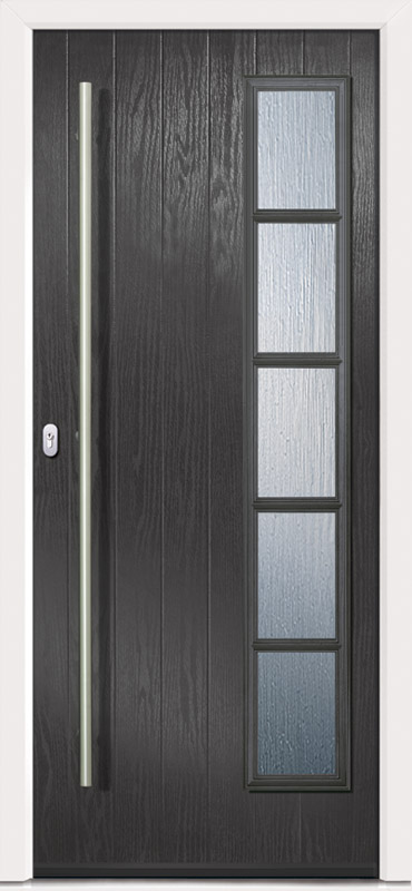 Chapleton D4 Grill Anthracite Grey Glazed 1500mm Pull & Centre Escutcheon